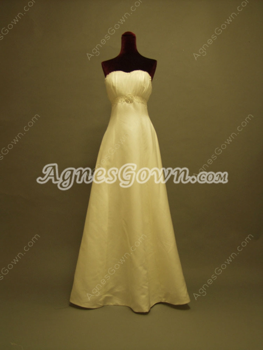 Elegant Full Length Causal Wedding Dresses With Detachable Ruffled Train