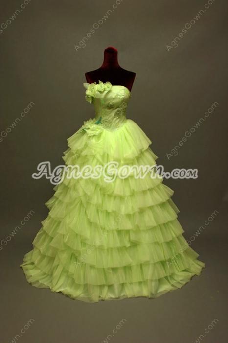 Charming Lime Green Vestido de Quinceanera Dresses