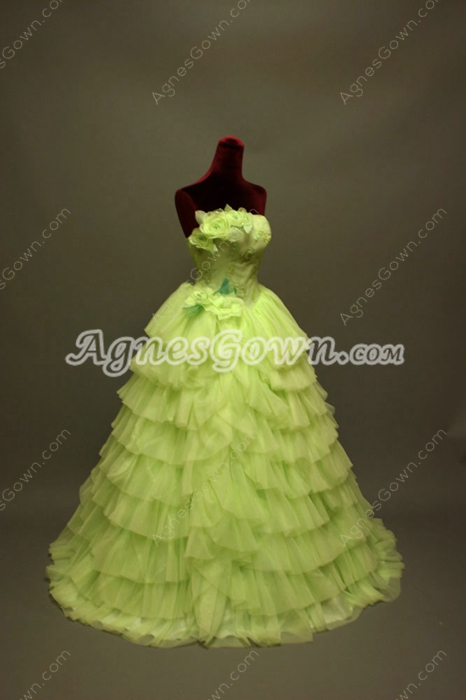 Charming Lime Green Vestido de Quinceanera Dresses