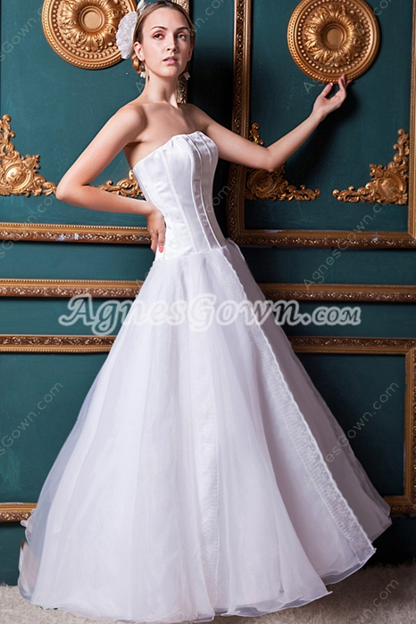 Discount Simple White Sweet 15 Dress Corset Back