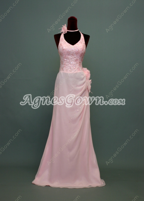 Lovely V-Neckline Sheath Bridesmaid Dresses With Sequins