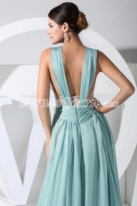 Beautiful Jade Green Prom Dress