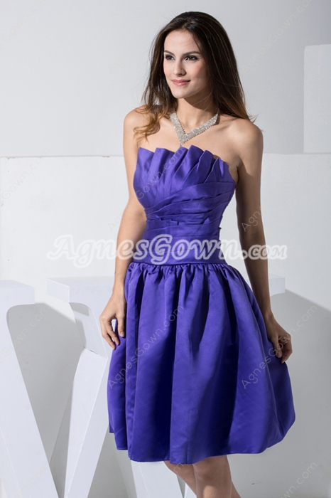 Knee Length Royal Blue Junior Prom Dress