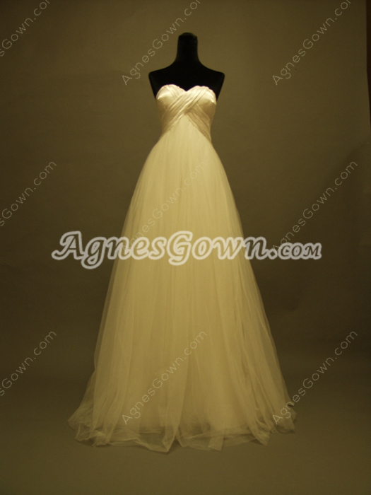 Simple Sweetheart Maternity Bridal Dresses With Rosette Skirt