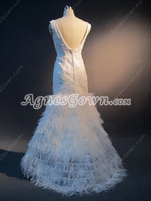 Unique Lace Wedding Dress for Old Woman