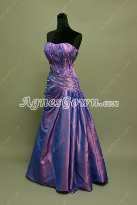 Terrific Lavender Taffeta Military Ball Dresses With Ruched Bodice
