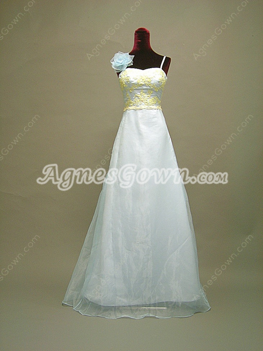 Beautiful Baby Blue Spaghetti Straps Bridesmaid Dresses