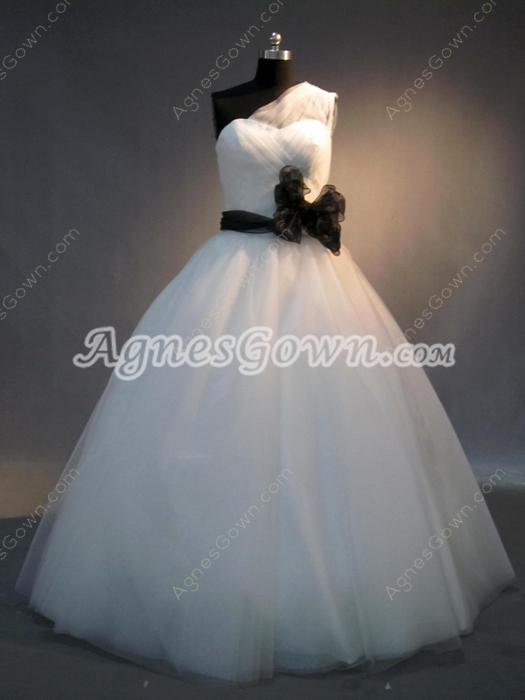 Fantastic One Shoulder Princess Wedding Dresses for Plus Size