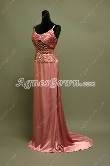 Elegant Illusion Evening Dresses With Ruched Bust