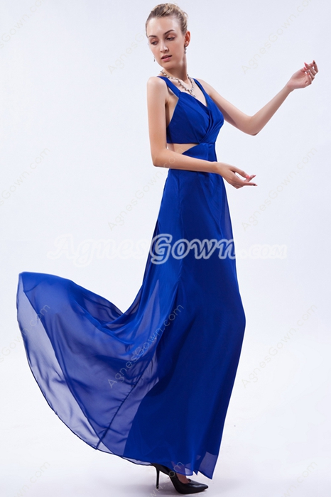 Charming Straps A-line Royal Blue Cocktail Dress