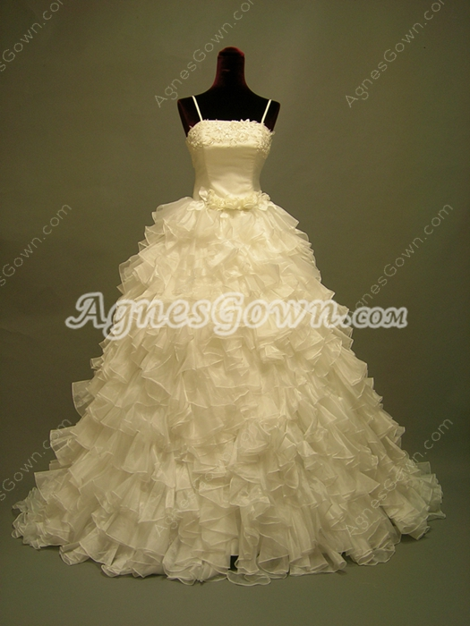 Terrific Spaghetti Straps Ruffled Quinceanera Dresses