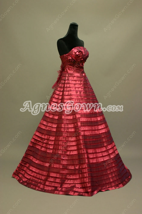 New Arrival Dark Red 2016 Spring Quinceanera Dress
