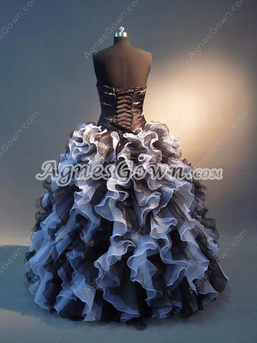 Colorful White And Black Vestidos de Quinceanera Dresses