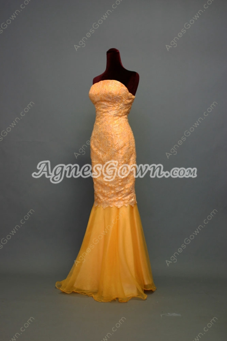 Chic Gold Trumpet Evening Dress