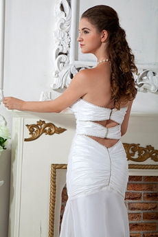 Sexy Wedding Dress Cut Out Back