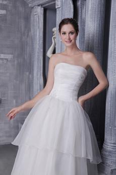 Pretty Strapless Princess Wedding Dress Corset Back