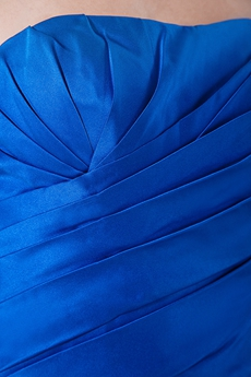 Discount A-line Royal Blue Satin Bridesmaid Dress