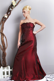 Unique Burgundy Prom Dress