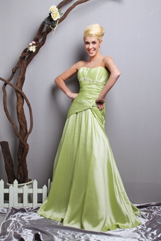 Impressive Dropped Waist Lime Green Sweet Sixteen Dress