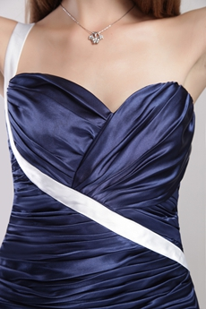 Charming One Straps Dark Royal Blue Evening Dress