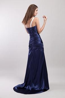 Charming One Straps Dark Royal Blue Evening Dress