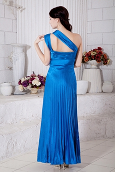 Ankle Length One Straps Turquoise Prom Dress For Juniors