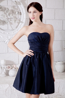 Mini Length Dark Navy Junior Prom Dress