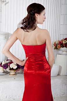 Sexy Low-cut Neckline Red Cocktail Dress