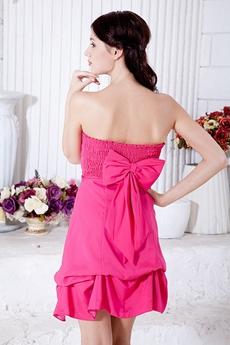 Beautiful Mini Length Fuchsia Junior Prom Dress