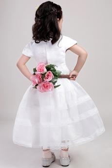 Short Sleeves Jewel Neckline Toddler Girl Dress