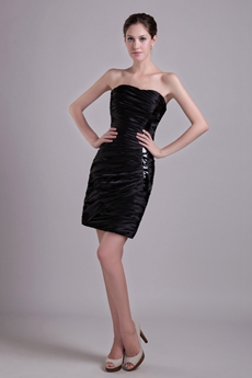 Chic Sheath Mini Length Black Cocktail Dress