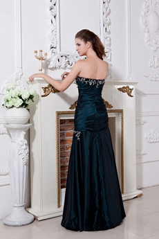 Elegance Sweetheart A-line Dark Green Prom Dress With Appliques