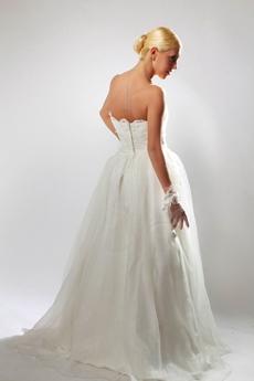 Sweetheart Organza Princess Wedding Dress