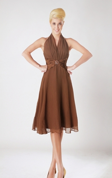 Knee length wedding guest dresses for Brown dresses for wedding guest