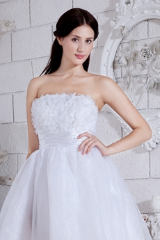 White Organza Mini Length Sweet 16 Dress