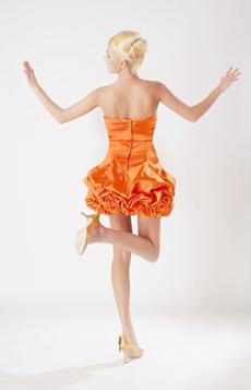 Lovely Organza Tutu Mini Length Damas Dress