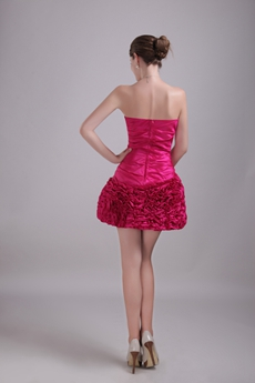 Lovely Mini Length Fuchsia Sweet Sixteen Dress With Crystals