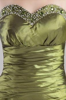 Retro Green Mermaid/Fishtail Prom Dress Corset Back