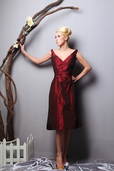 Modern Off The Shoulder Burgundy Wedding Guest Dress