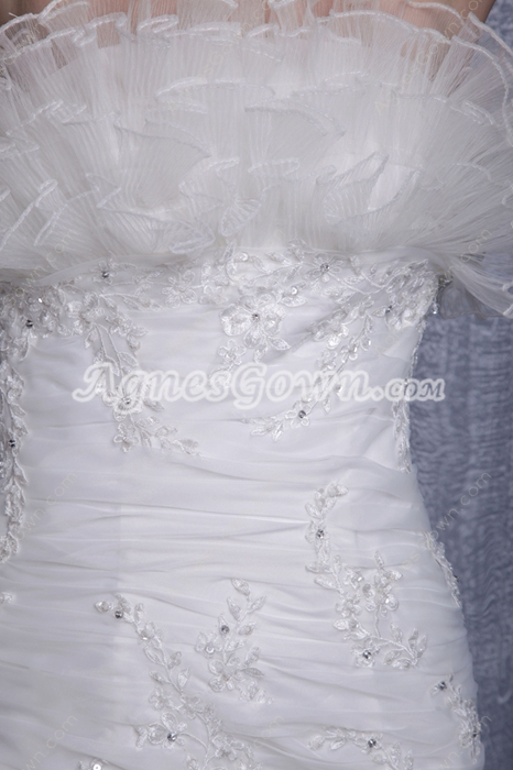 Dropped Waist Special Wedding Dress Button Back