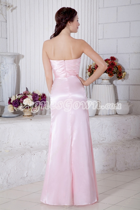 Pretty A-line Pearl Pink Bridesmaid Dress