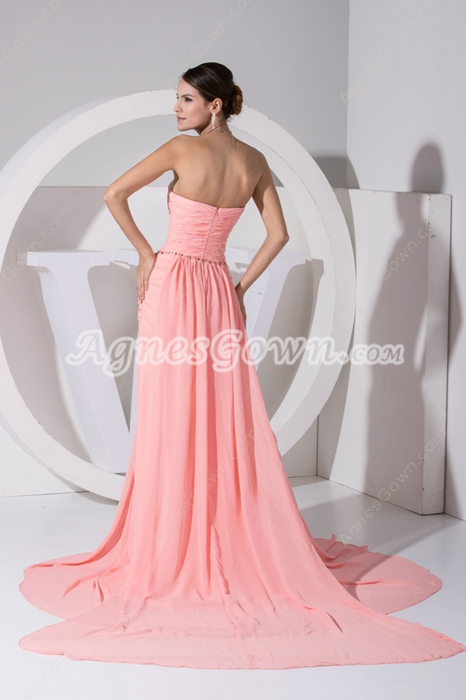 Breathtaking A-line Coral Chiffon 2016 Prom Dress