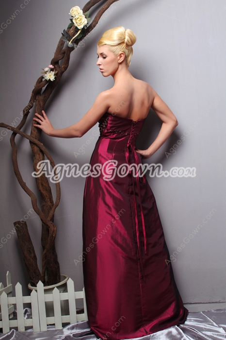 Discount A-line Fuchsia Taffeta Prom Party Dress With Sequins