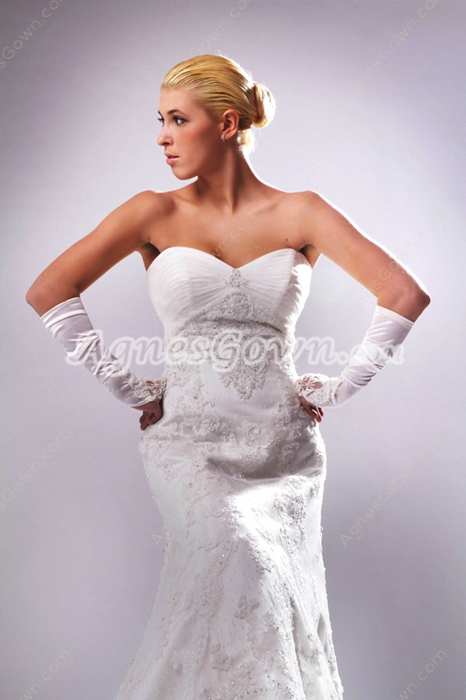 Stunning A-line White Lace Wedding Dress With Great Handworks
