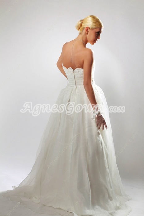 Sweetheart Organza Princess Wedding Dress