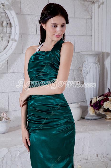 Backless A-line Dark Green Formal Evening Dress
