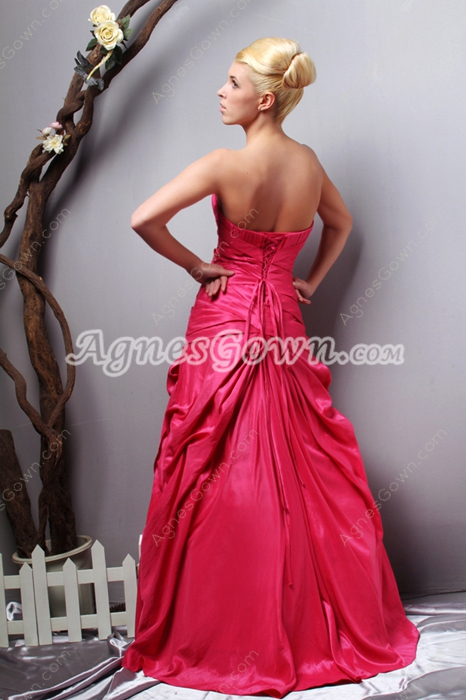 Beautiful A-line Fuchsia Taffeta Quinceanera Dress