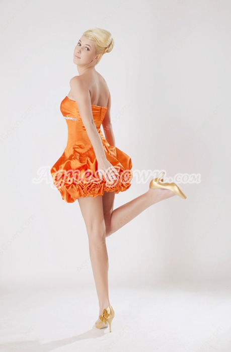 Lovely Organza Tutu Mini Length Damas Dress