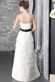 Terrific Spring Beach Wedding Dresses With Black Sash