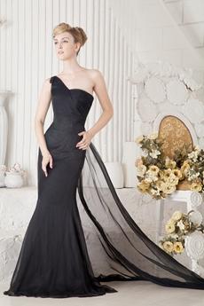 Keyhole Back One Shoulder Formal Evening Dress